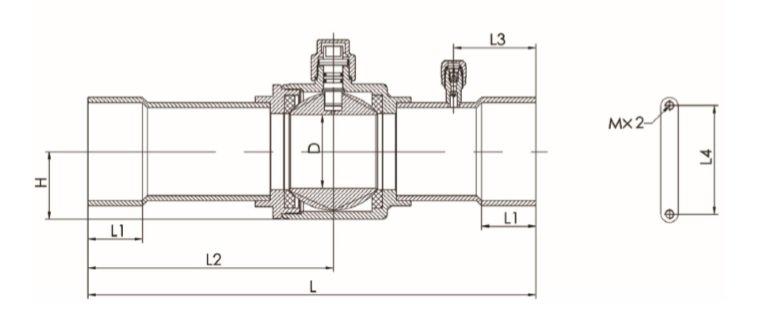 Габаритный чертеж клапана SBV