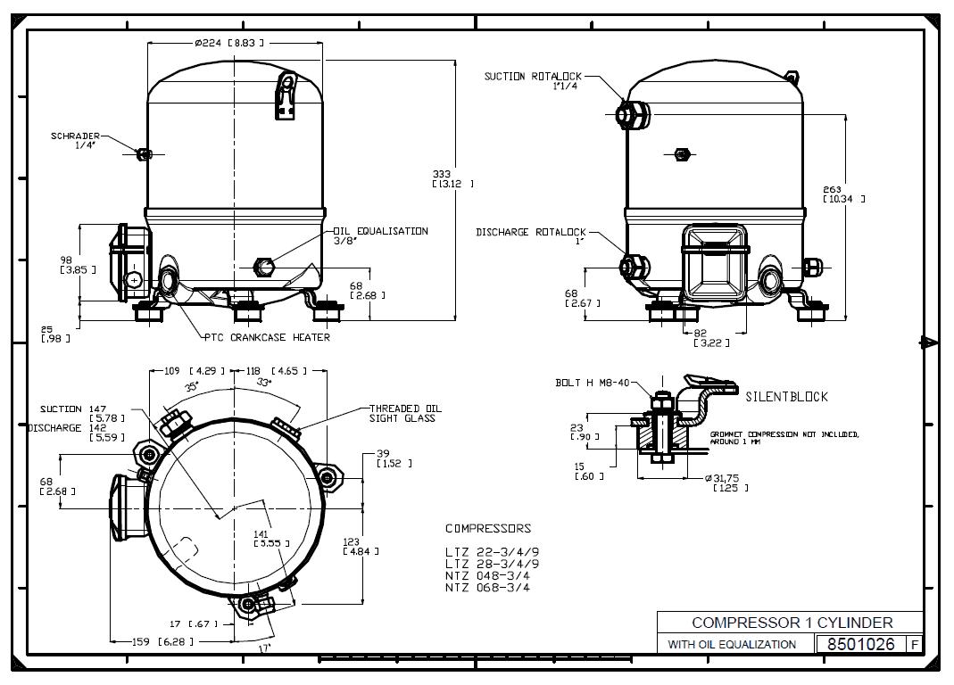 Габаритный чертеж NTZ068