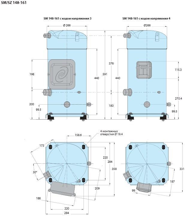 Габаритный чертеж Performer SM/SZ 148-161