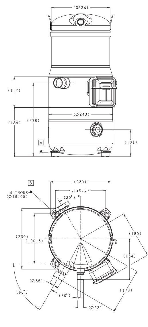 Габаритный чертеж Performer SH 105/120/161