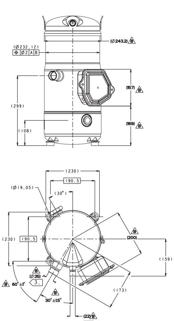 Габаритный чертеж Performer SH 184