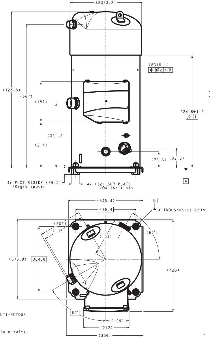 Габаритный чертеж Performer SH 380