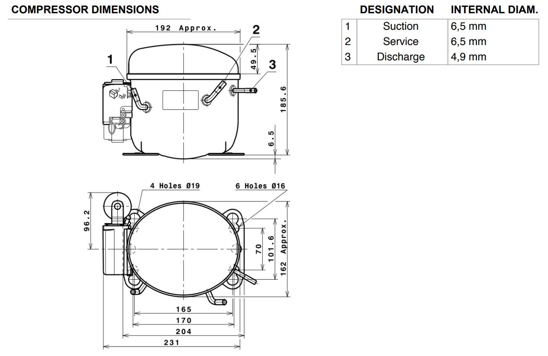Габаритные и присоединительные размеры ML80FB