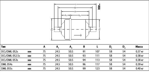 Габаритный чертеж фильтра DCL Danfoss
