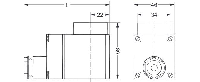 Габаритный чертеж электромагнитной катушки