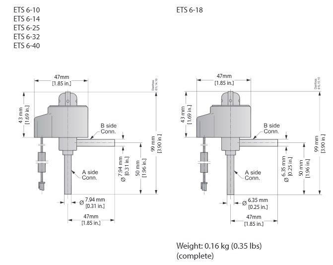 Габаритный чертеж ETS 6