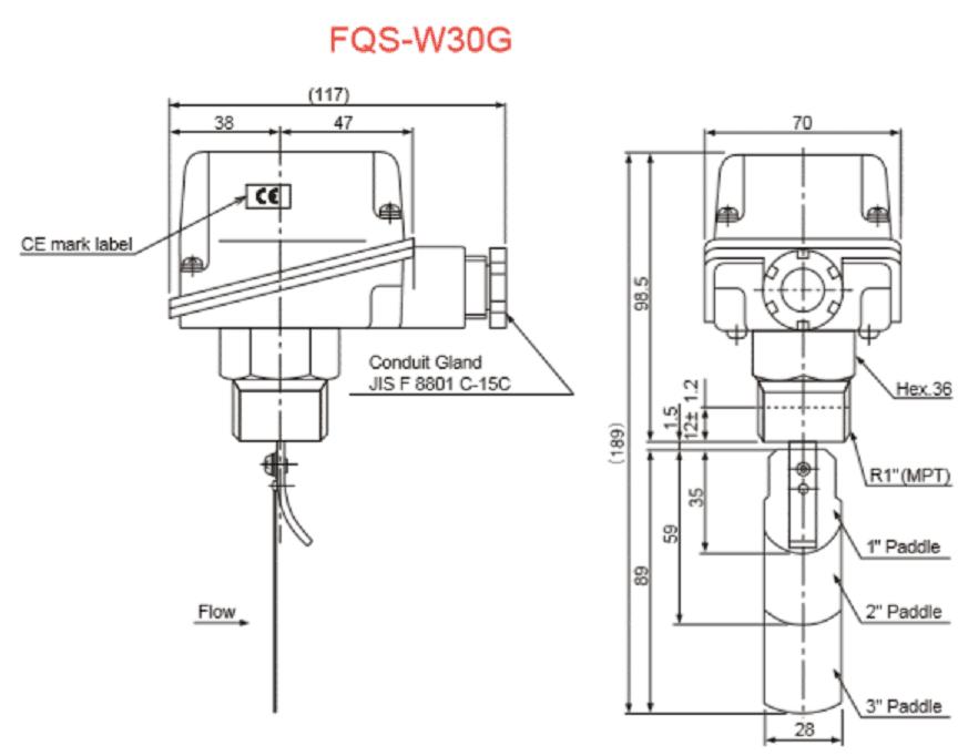 Конструкция реле протока FQS