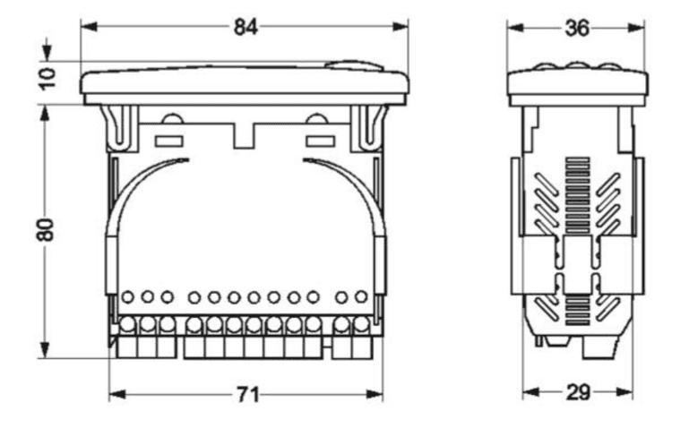 Габаритный чертеж контроллера Danfoss