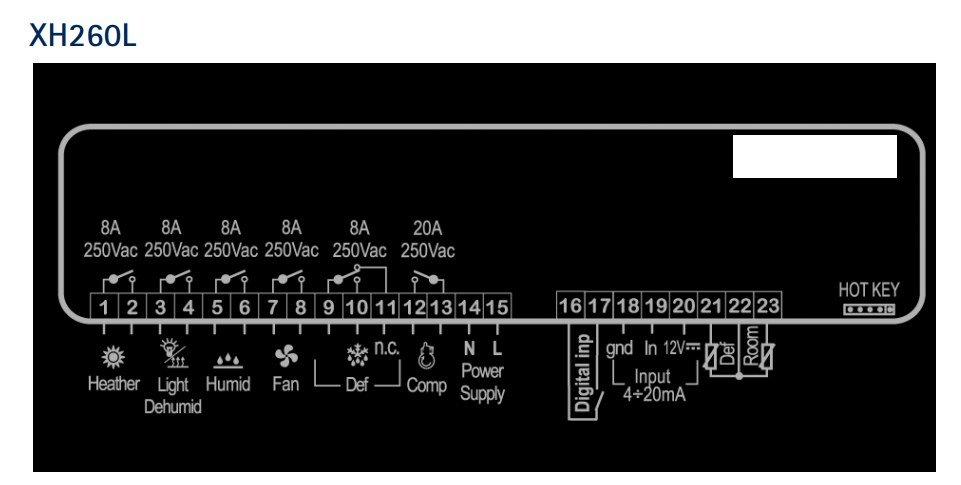 Подключение XH260L