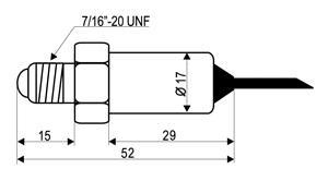 Габаритный чертеж датчика давления Dixell