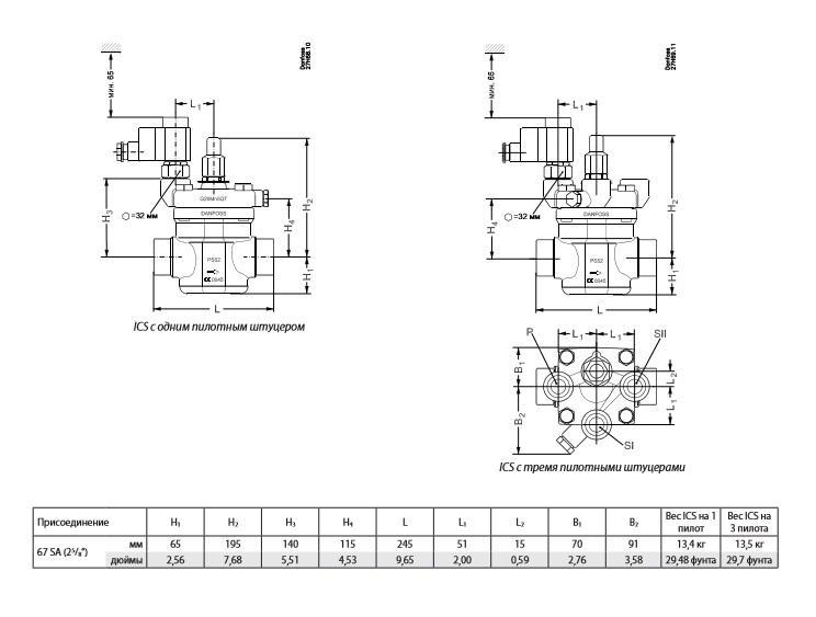Вентиль сервоприводный ICS 65-1 67 SD