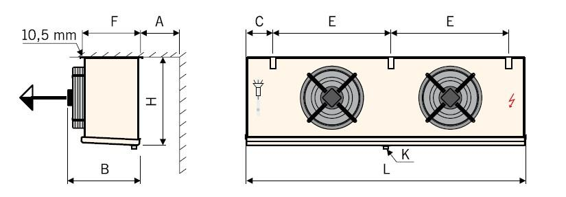 Чертеж воздухоохладителей Guentner GACC тип I (2)