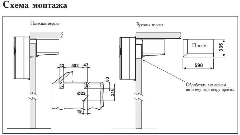 Схема монтажа моноблоков Zanotti GM 2