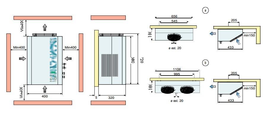 Габаритные размеры сплит-систем FS 3,6,7,9