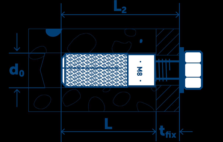 Габаритный чертеж латунного анкера