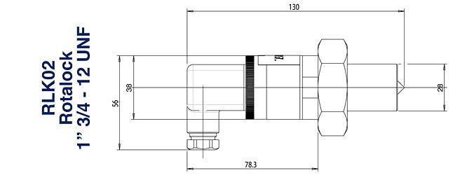 Габаритный чертеж датчика уровня масла
