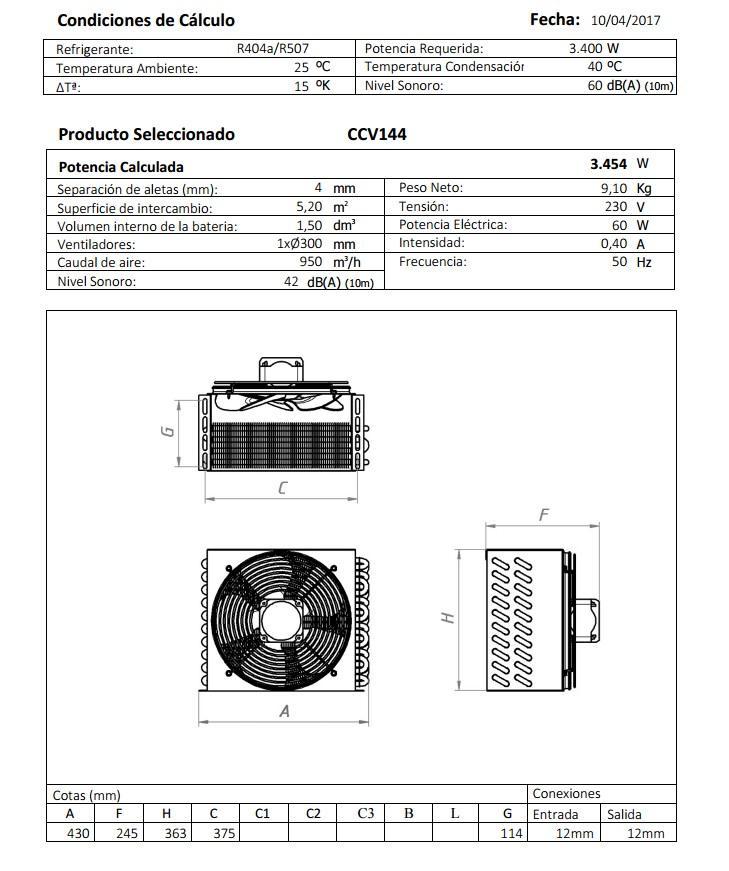 Габаритный чертеж и технические характеристики CV144