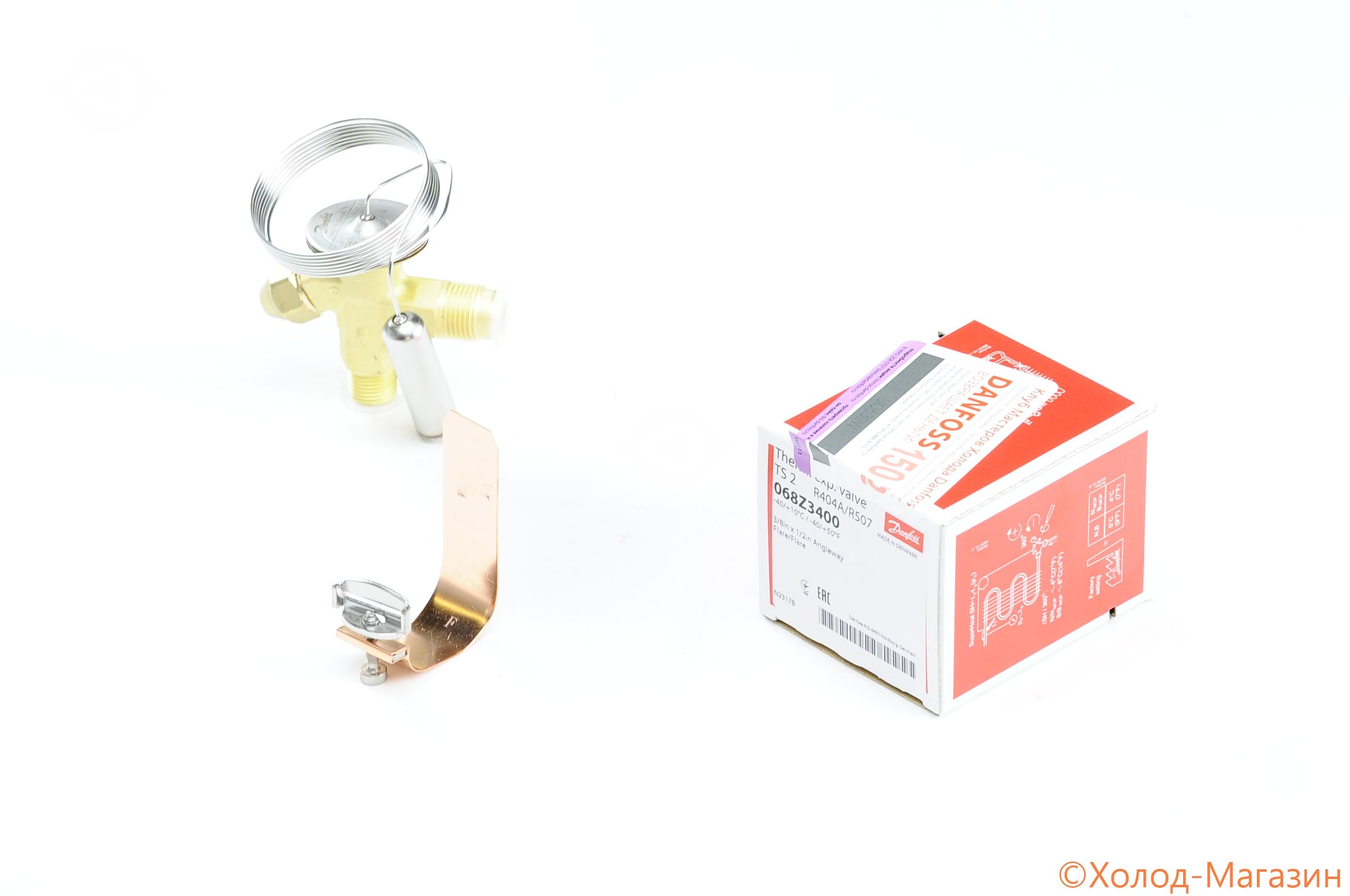 Вентиль терморегулирующий ТРВ TS 2 (R404A, без МДР, -40....+10C), Danfoss