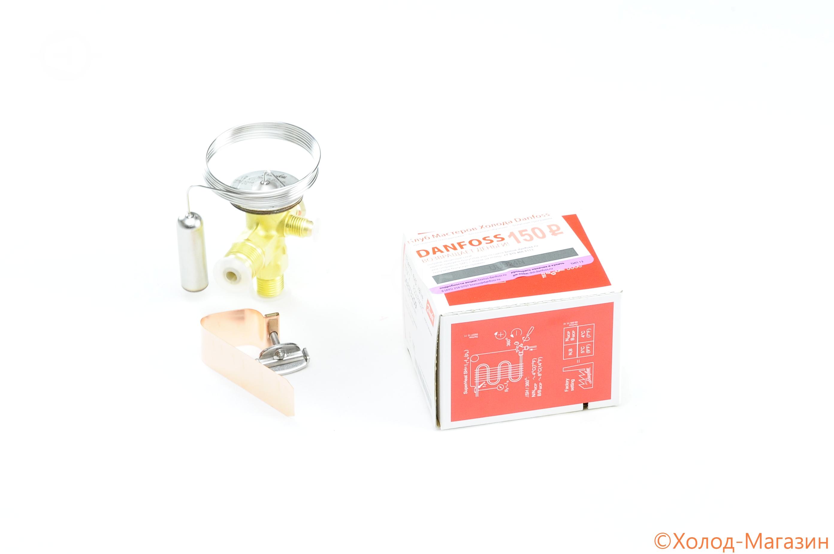 Вентиль терморегулирующий ТРВ TES 2 (R404A, МДР, -40....-15C), Danfoss